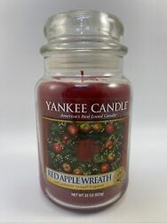 Yankee Candle RED APPLE WREATH Large Jar 22oz New W Fast Shipping