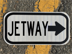 Jetway Road Sign 12x6 - Dot Style - Airport Runway Jet Pilot Highway Fly