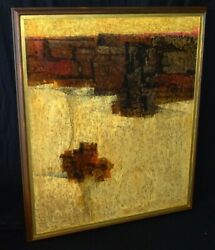 And03960s Modern Taos Nm Oil Painting Lava Flow By Mario Larrinaga 1895-1979ahb