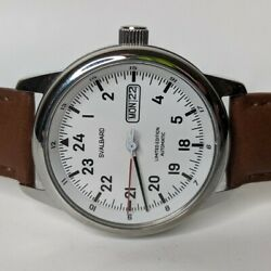 Svalbard Denmark Dh12 Automatic Menand039s Watch White Dial 24-hour 40.5mm