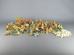 Large Lot Nativity With 66 Shapes Plastic Of Period Xx Century
