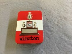 Vintage Nascar Winston Cup Champion Bic Lighter In Collectible Tin