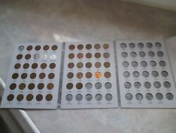 Complete Lincoln Wheat Penny Cent Collection Album 1941 -1958