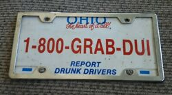 Ohio Report Drunk Drivers License Plate State Highway Patrol Grab Dui Oh W Frame
