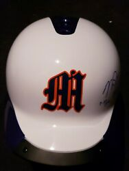 Mike Trout Signed And Inscribed Custom Millville Batting Helmet W/mlb Coa