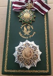 Qatar Complete Set Of Order Of Merit Neck Badge Medal Breast Star First Class