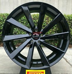22and039and039 Giovanna Kapan Gloss Black Tires Fit Maserati Levante Ford Explorer Taurus