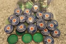 100 Heineken 00 Beer Bottle Caps Blue And White No Dents Free Shipping C Store