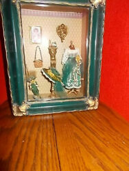 Dollhouse Tabletop Wall Hang Roombox Artisan Mayfest Signed