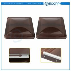 2 Pack Rv Roof Vent Cover Replacement For Motorhome Camper Rv Trailer Smoked 14