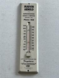 Marvin Arnold Refrigeration Ashland Wis 11 1/2 Advertising Thermometer Wi Works