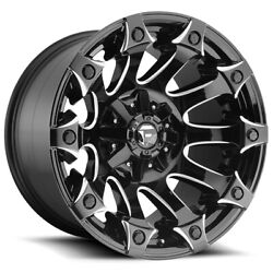 5-fuel D578 Battle Axe 20x10 5x4.5/5x5 -18mm Black/milled Wheels Rims 20 Inch Jl
