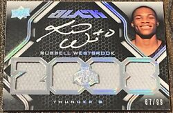 2008 Russell Westbrook Rc Ud Black Silver Rpa On Card Auto Quad Patch /99