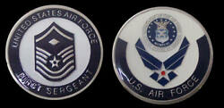Us Air Force First Sergeant Master Sergeant Rank Challenge Coin Military Coins