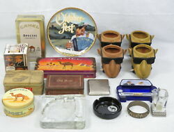 Lot Vintage Joe Camel Cigarettes Collectibles Can Coolers Matches Tins Ashtrays