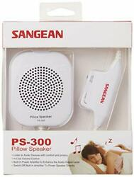 Sangean PS 300 Pillow Speaker with In line Volume Control and Amplifier White