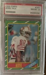 Jerry Rice Rookie Card Psa 8 Rc 1986 Topps 161 Psa 8 Nm-mt Hof 49ers High End