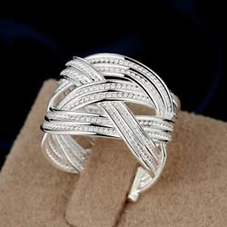925 sterling Silver for women men Rings wedding cute party lady nice hot C $2.30