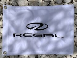 Regal Boats White/black Logo 12x18 Embroidered Flag