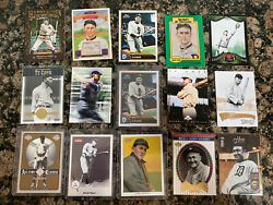 Lot Of 15 Ty Cobb Reprint, Modern Commemorative Cards