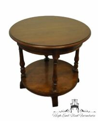 Henredon Furniture Rustic Italian Tuscan Style 30 Round Accent End Table 660...