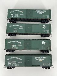 Ho Scale 187 Vintage Athearn Bev-bel Lot Of 4 Gmando 50' Boxcars Diff S Kds Rtr