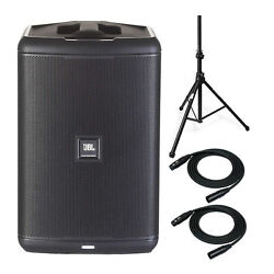 Jbl Eon One Compact Pa Speaker Bundle With Knox Gear Tripod Stand And Xlr Cables