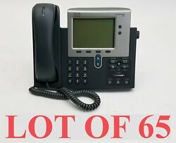 Cisco 7942 Cp-7942g Unified Ip Voip Office Business Phone W/handset Lot 65