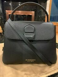 New Authentic Burberry Small Camberley Derby Leather House Check Satchel $825.00