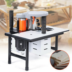 110v Portable Woodworking Edge Banding Machine 10-60mm Width 0.3-3mm Thick Bevel