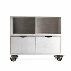 Haven Home Washington File Cabinets In White Wash 2 Filing Drawers With Casters