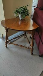 American Traditional Drop Leaf End Table By Ethan Allen