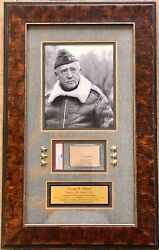 General George S. Patton D.1945 Wwii Us Army Signed Custom Framed Display-psa
