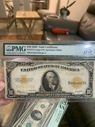 1922 10 Dollar Gold Certificate Coin Note Large Currency Fr1173