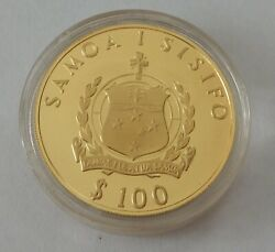 1981 Western Samoa 100 Tala 22 Carat Gold Proof Wedding Of Hrh Charles