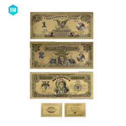 Us 1899 Year Gold Banknote Us 1 2 5 Dollar Normal Money With Certificate Card