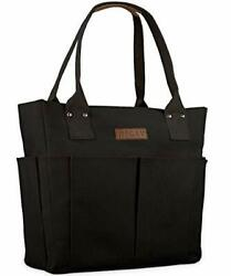 Canvas Tote Bags for Women Large Utility Tote Bags with Pockets Zip Top Work $45.37