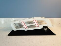 Vintage Antique White Tonka Truck Pressed Metal Car Carrier Trailer Only 14 Toy