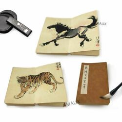 Excellent Antique Chinese Calligraphy Book 12 Zodiac Animals Marks Xubeihong