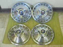 1963 Ford Spinner Hub Caps 14 Set Of 4 Wheel Covers 63 Hubcaps