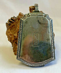 Vtg Sterling Silver Victorian Era Change Coin Compact Purse 67.16g Needs Repair