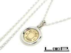 Polished Shindo Hermes Serie Long Necklace Coin Accessory Combination Gold K18