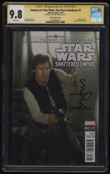 Journey To Star Wars The Force Awakens 3 Cgc 9.8 Ss Harrison Ford Autograph