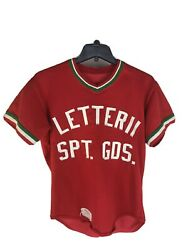 Vintage 1980's Poughkeepsie Ny Baseball Youth L Jersey Letterii Sporting Goods