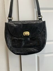 HOBO International Black Leather Crossbody Bag Purse Red Interior $38.00