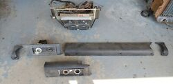 1966 Chevy Impala Caprice Conv Gauge Package Ac Knee Pads Console 1 Yr Only