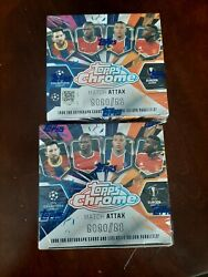2020-21 Topps Chrome Soccer Match Attax 2 New Sealed Hobby Boxes