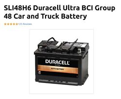 Duracell Ultra Bci Group 48 Car And Truck Battery