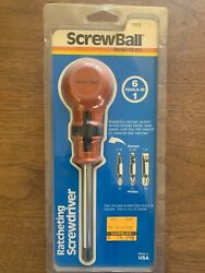 Screwball Ratcheting Screwdriver Ratchet Tool Vintage Collectible Made Usa New