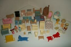 Lot Fisher Price Little Tikes Loving Family Doll House Furniture Accessories